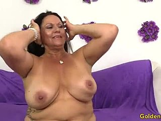 Old woman sex with big tit