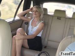 Sexy, Blonde, Backseat, Amateurs, Blowjob