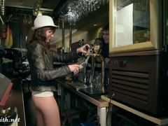 Heels, Nude, Flashing, Drunk, Ass, Naked, Voyeur, Dancing, Leather, Spying, Upskirt, Night club, Legs, Outdoor, Public, Shoes, Bar, Skirt