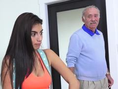 Old and young, Teen, Old man, Dad and girl, Cock, Young, Old, Fucking, High definition, Sucking, Amateurs, Blowjob