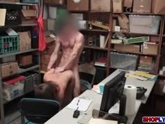 Punished, Monster cock, Office, Big cock, Police, At work, Cock, Bent over, Blowjob, Doggystyle, Handjob, Garage, Brunette, Shop, Public, High definition, Horny, Outdoor