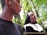 Swallow, Cock, Kinky, Sucking, Blowjob, Nun, Outfit, Spreading, German, Street, Crazy, Taboo, Cowgirl, European, Trimmed pussy, Outdoor, Riding, Cum, Pussy, Blonde