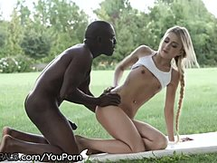 arsch blondine interracial